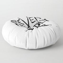 Seven Deadly Sins Typo Floor Pillow