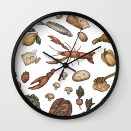 Food Wall Clock