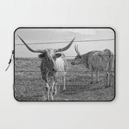 Longhorn Cows Laptop Sleeve