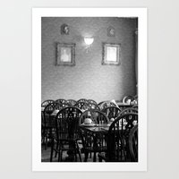cafe Art Prints featuring Cafe by J. Ann Photography