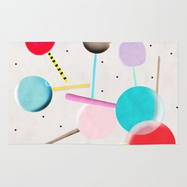 Lolli pop floating water waves and bubbles Rug