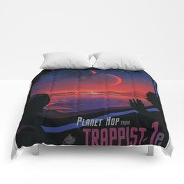 NASA Visions of the Future - Planet Hop from Trappist-1e Comforters