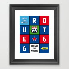 Route 66 Sixty-Six Road USA Framed Art Print