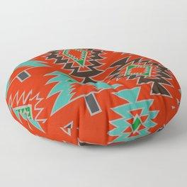 Navajo with pine trees Floor Pillow