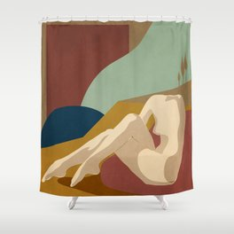 Abstract Female Figure 3 Shower Curtain