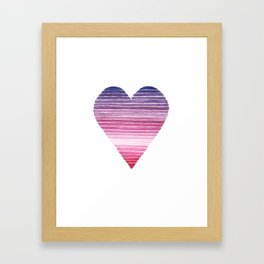 Colors Of The Heart Framed Art Print