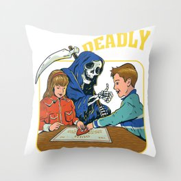 deadly games funny parody  Throw Pillow