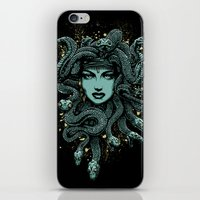 medusa iPhone & iPod Skins featuring Medusa by miles to go