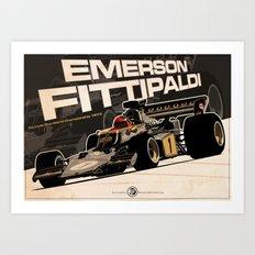 Emerson Fittipaldi - F1 1973 Art Print
