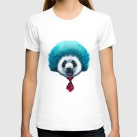 afro T-shirts featuring PANDA AFRO by ADAMLAWLESS