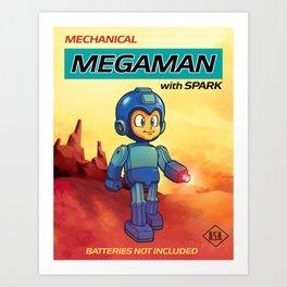 Tin Toy Mega Man Art Print