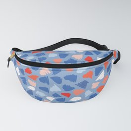 Memphis Style Abstract Scribbles Seamless Pattern Fanny Pack