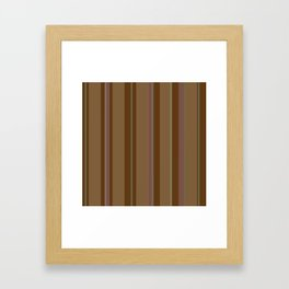 Chocolate Stripes Framed Art Print