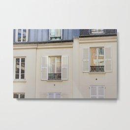 Parisian window Metal Print