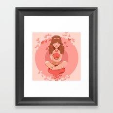 Love Support Framed Art Print