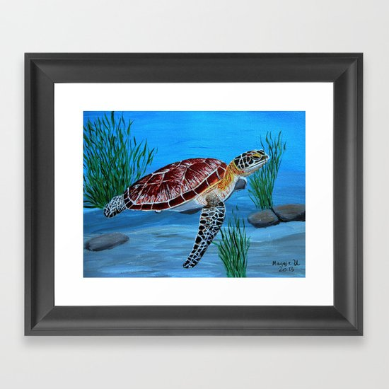 Sea Turtle Framed Art Print By Maggs326 Society6