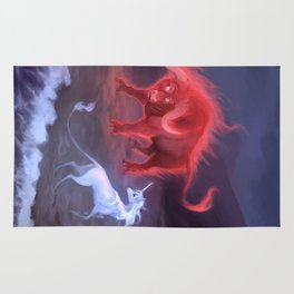Unicorn and Bull Rug