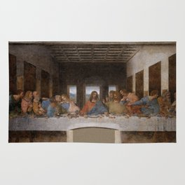 Mosaic of the Last supper of Leonardo Da Vinci Rug