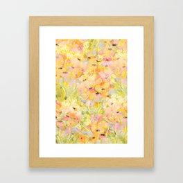 Buttercup Fields Forever Framed Art Print