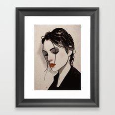 Thoughts. Framed Art Print