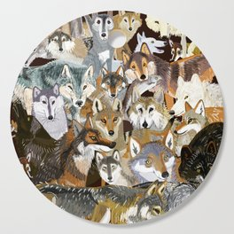 Wolves o´clock (Time to Wolf) Cutting Board