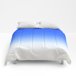 Sky Blue White Ombre Comforters