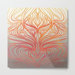 Fan Coral Metal Print