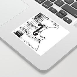 Music Notes on String Instrument Sticker
