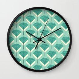 Mid-century Modern Radio Antenna Pattern / Teal Wall Clock