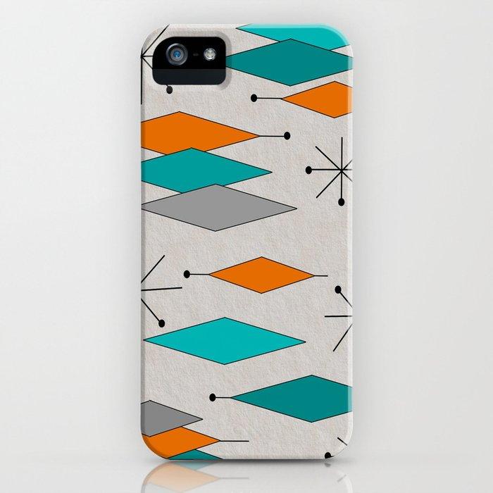 mid-century modern diamond pattern iphone case