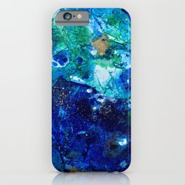 Look Down As The Rain Falls Into The Sea iPhone Case