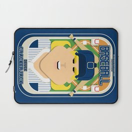 Baseball Blue Pinstripes - Deuce Crackerjack - Hazel version Laptop Sleeve
