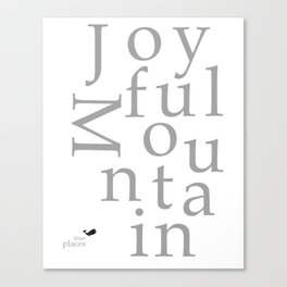 joyful mountain Canvas Print