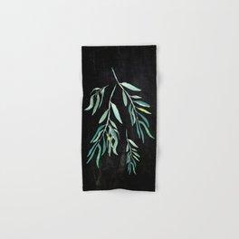 Eucalyptus Branches On Chalkboard II Hand & Bath Towel
