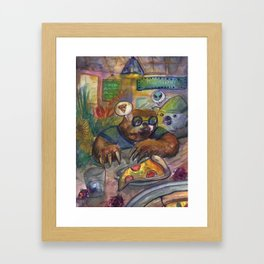 Koala and Sloth Framed Art Print