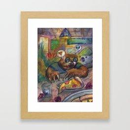 Koala and Sloth Framed Art Print