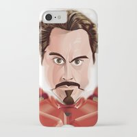 tony stark iPhone & iPod Cases featuring Tony Stark/Iron Man by Greene Graphics