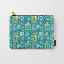 Geometric collage - turquoise Carry-All Pouch