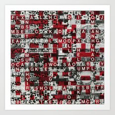 Paradox Network (P/D3 Glitch Collage Studies) Art Print