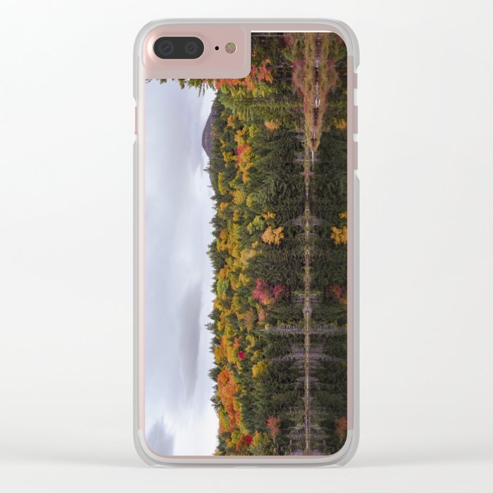Foliage Reflection Clear iPhone Case