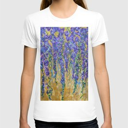 Wisteria Abstract Painting, Colorful Wall Art, Floral Home Decor T-shirt