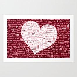 Borderless Love - Red Art Print