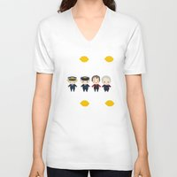 cabin pressure V-neck T-shirts featuring Cabin Pressure: The Lemon is With You by Le Bear Polar