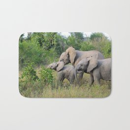 Elephant Family Bath Mat