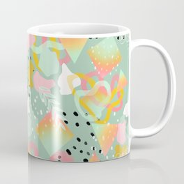 Rainbow Prism Candy Abstract Pattern Mint  Coffee Mug
