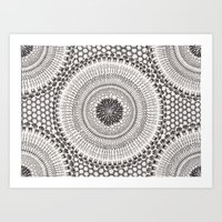 honeycomb Art Prints featuring Honeycomb by Mijamona