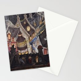 Roofs of magic town Stationery Cards