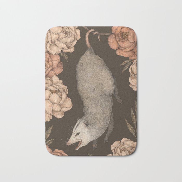 The Opossum and Peonies Badematte