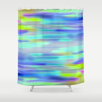 acid Shower Curtains featuring Acid Drops by GS Designs