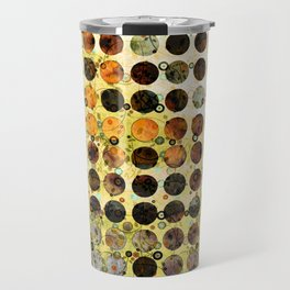 MELANGE OF YELLOW OCKER and BROWN Travel Mug